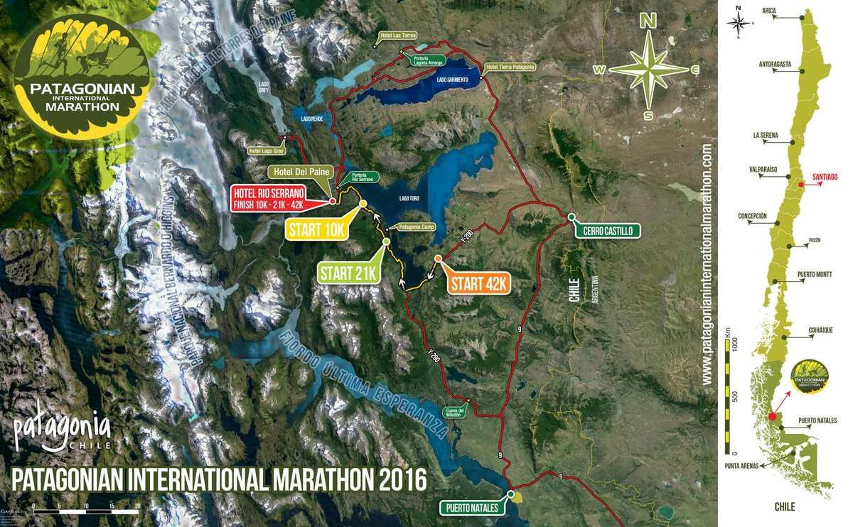 Patagonian International Marathon - 2016 Map