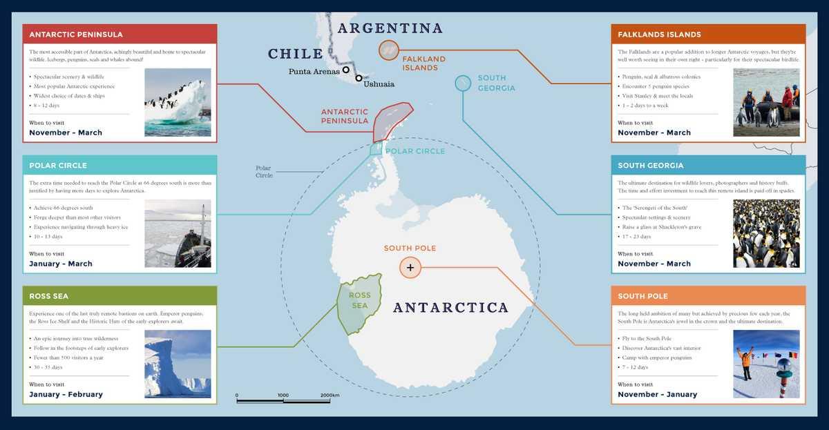 Maps of Antarctica & the Antarctic Peninsula | Swoop Antarctica