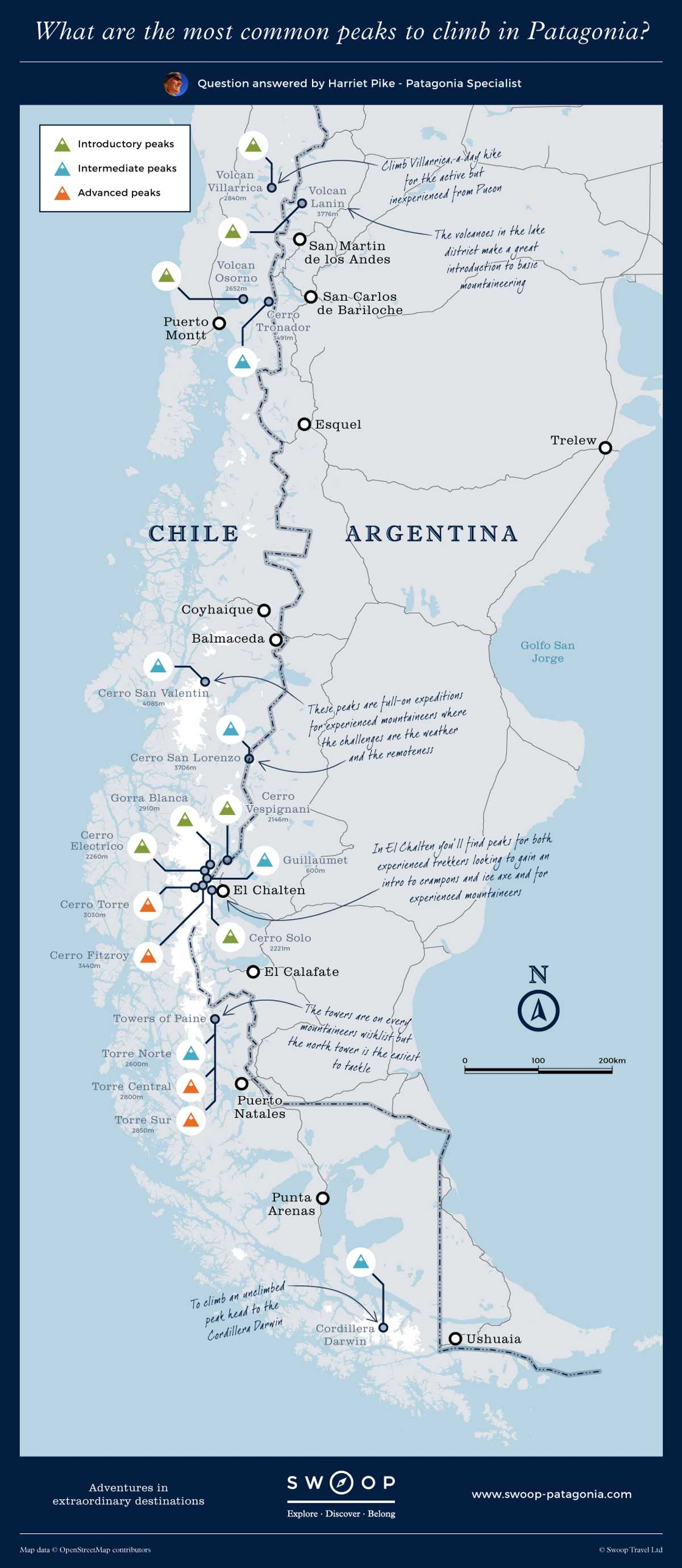 New map What-are-the-most-common-peaks-to-climb-in-Patagonia