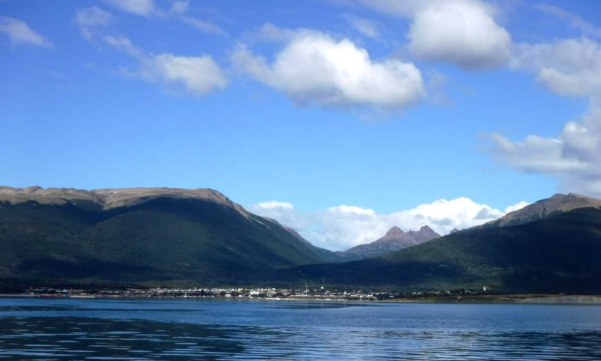 Puerto Williams from Beagle Channel