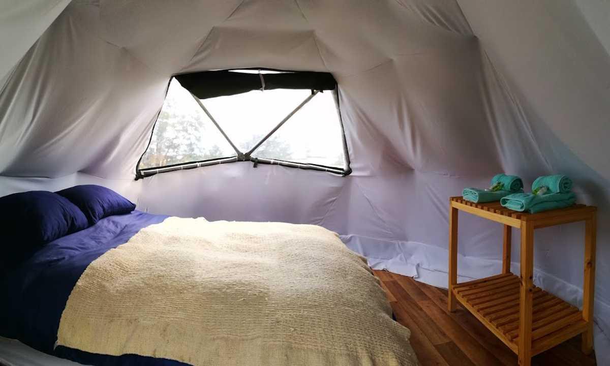 Serrano Camp bedroom yurt