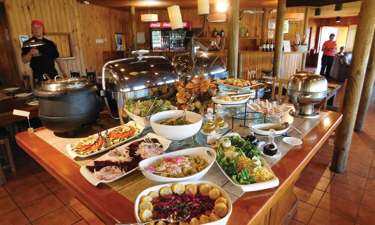Hotel del Paine food