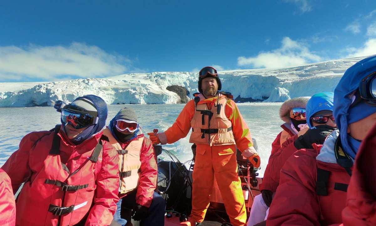 2 day flight to Antarctica