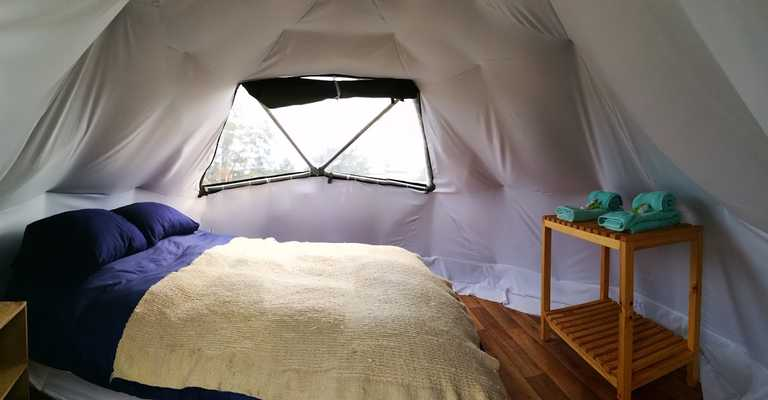 Serrano Camp bedroom yurt