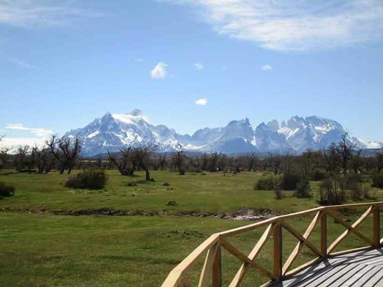 Decking & View - Pampa Lodge