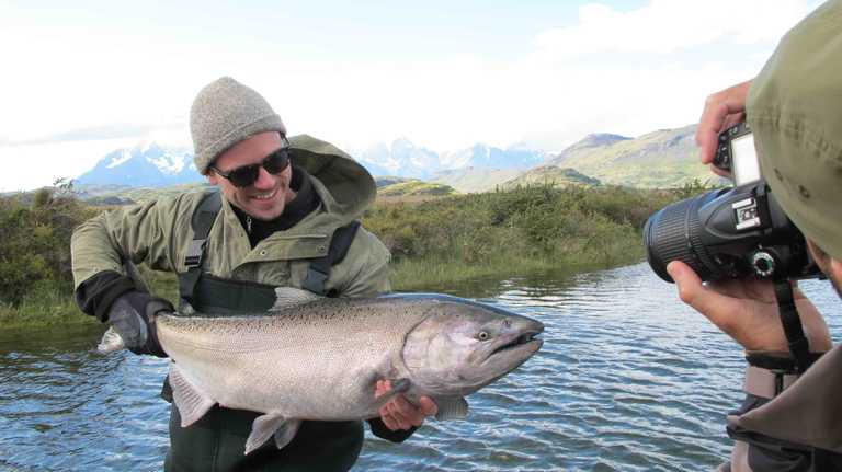 Fishing in Torres del Paine
