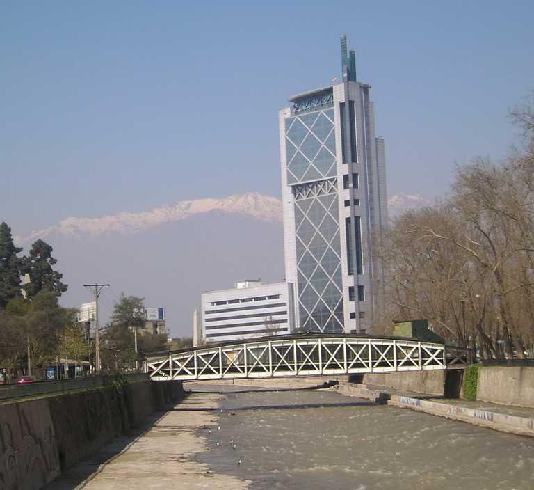 Santiago City Mapocho river