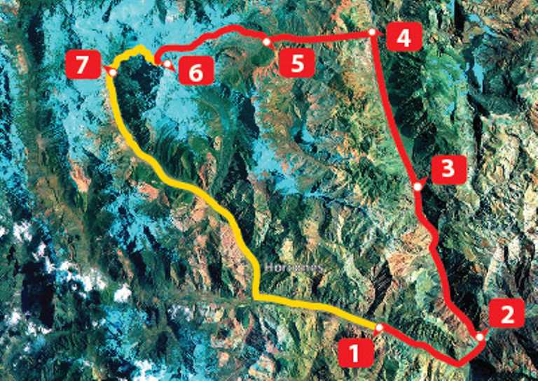 Aconcagua Traverse Route Map - Small - SWX